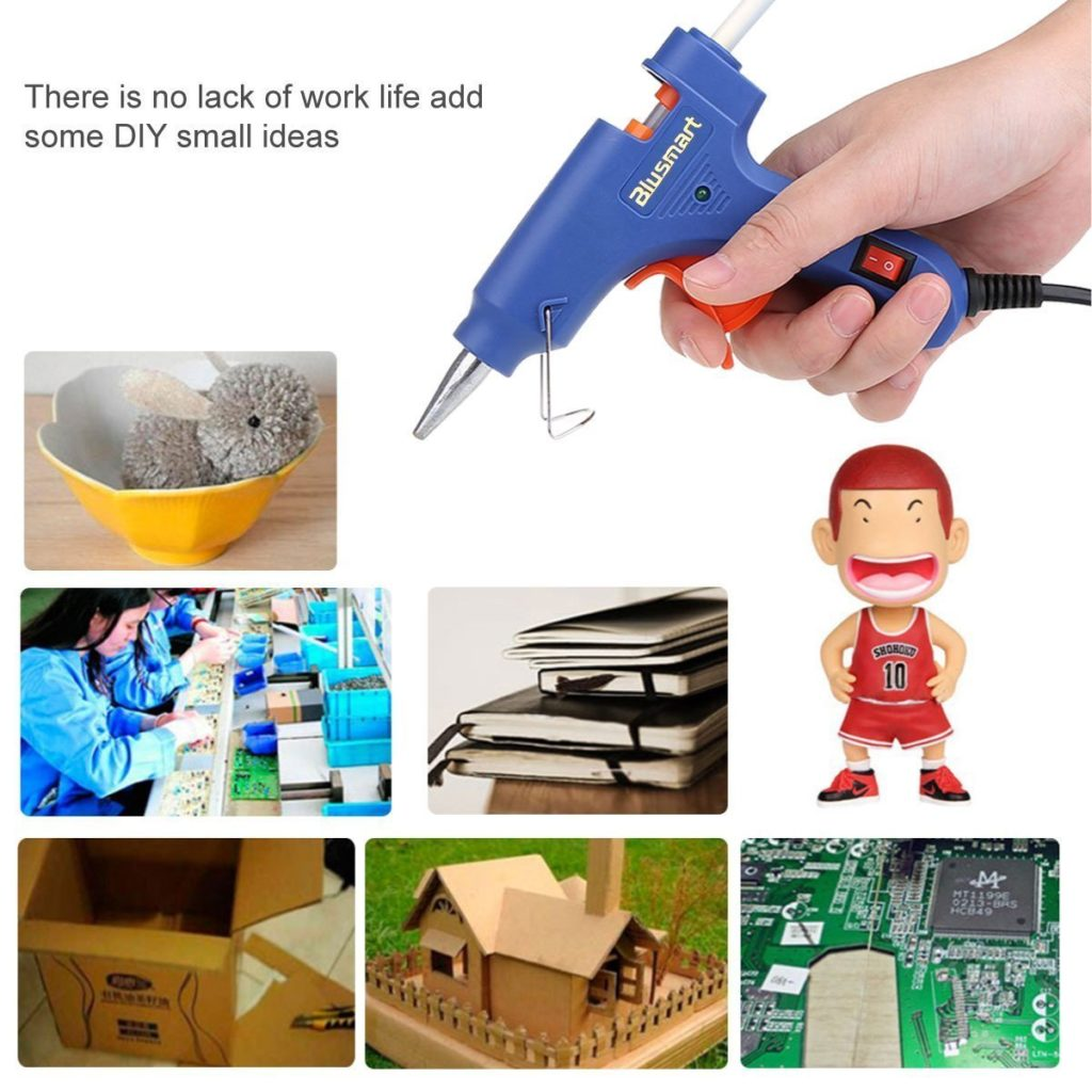 20 Watts Blue High Temperature Glue Gun for DIY Craft Projects and Repair Kit