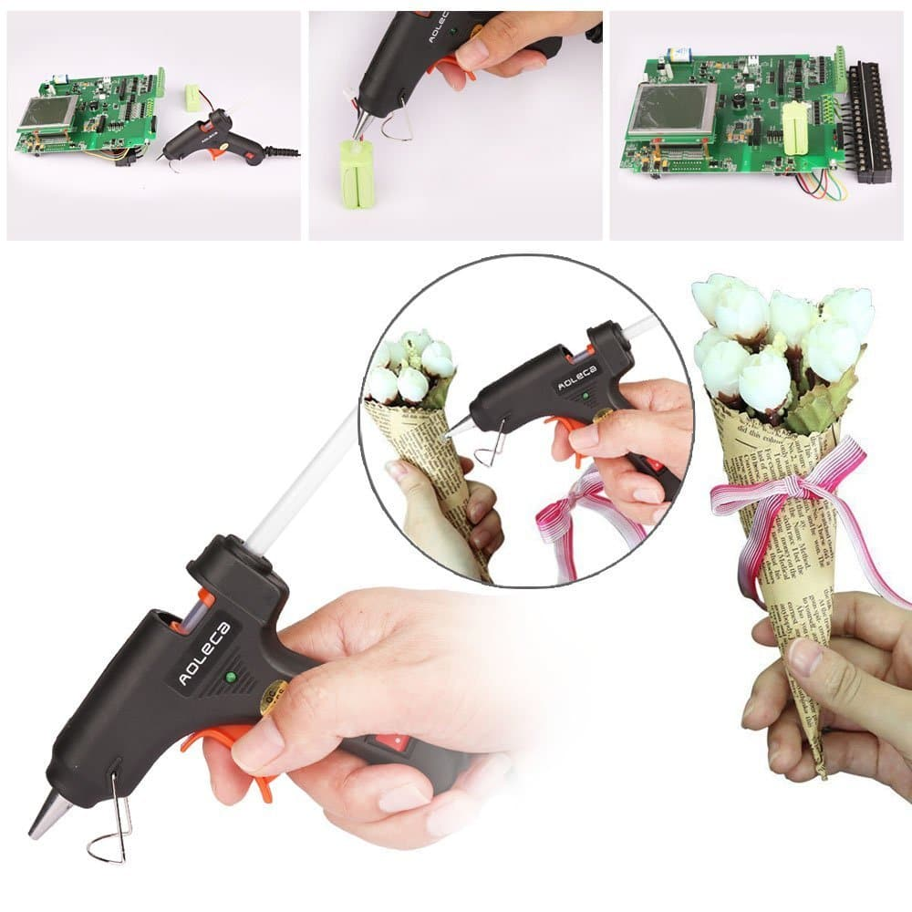 Hot Glue Gun with 30pcs Melt Glue Sticks