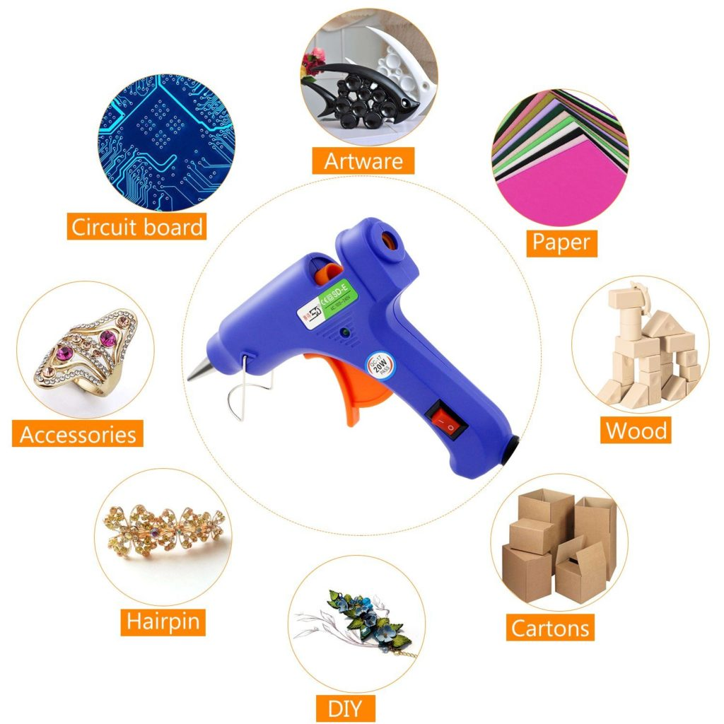 Melting Glue Gun Kit Flexible Trigger for DIY Small Craft Projects