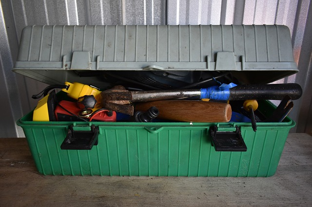 an organizer containing different tools