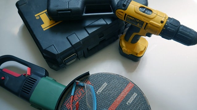 electric saw, drill and tool boxes